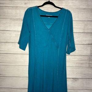 Soft Surroundings Turquoise Maxi Dress